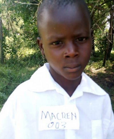 Meet Macren - He is 8 years old, he loves learning and hopes to become a doctor one day. Click Macren's picture to sponsor him!