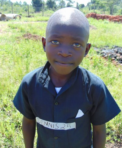 Click Dennis's picture to sponsor him - He is 9 years old, loves playing and hopes to become a driver one day.