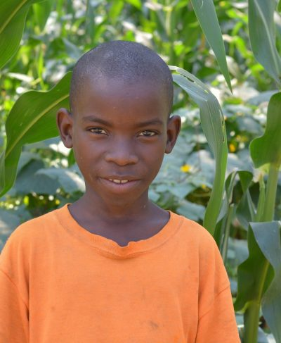 Click Lenard's picture to sponsor him - He is 8 years old, loves to play football and hopes to become a soldier in the future.