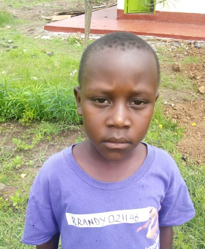 Click Brandy's picture to sponsor him - He is 8 years old, loves music and hopes to become a driver one day.