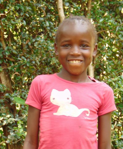 Click Carolyne's picture to sponsor her - She is 9 years old, loves learning and wants to be a teacher.