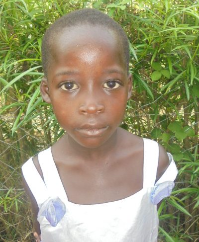 Click Esther's picture to sponsor her - She is 5 years old, loves school and wants to be a teacher.
