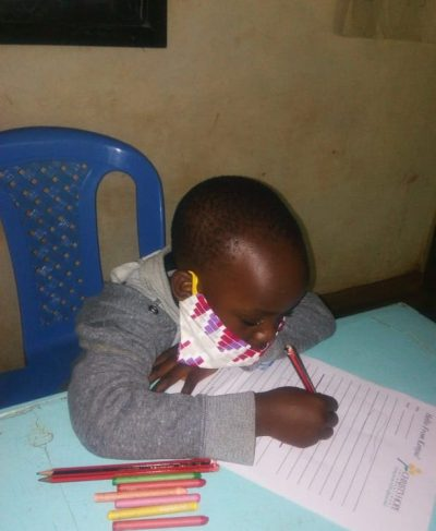 Click Wolcott's picture to sponsor him - He is 5 years old, loves to draw and wants to be a teacher.
