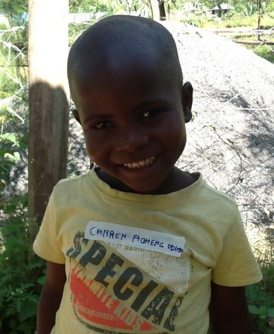 Click Caren's picture to sponsor her - She is 5 years old, loves math, and wants to be a teacher.