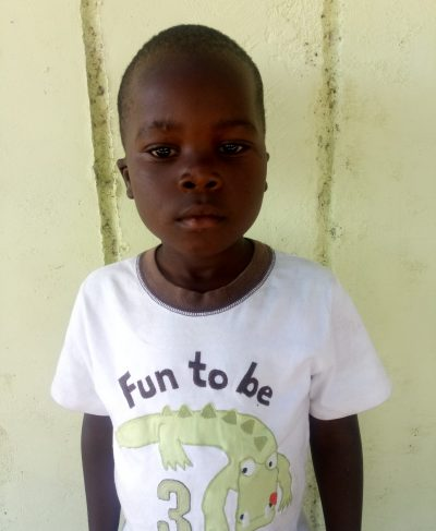 Click Maurice's picture to sponsor him - He is 6 years old, loves school, and wants to be a driver.