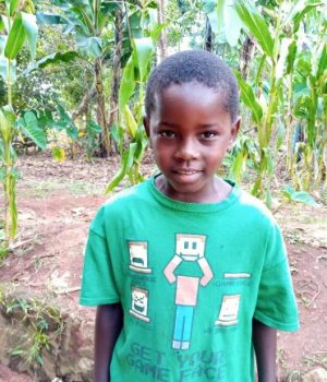 Click Titus's picture to sponsor him - He is 8 years old, loves friends, and wants to be a doctor.