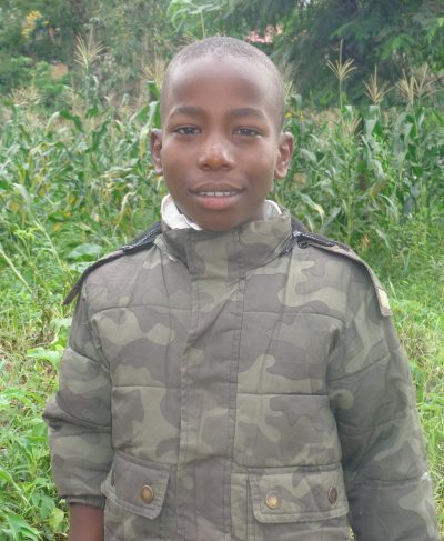 Click Masalu's picture to sponsor him - He is 11 years old, loves studying, and wants to be a solider.