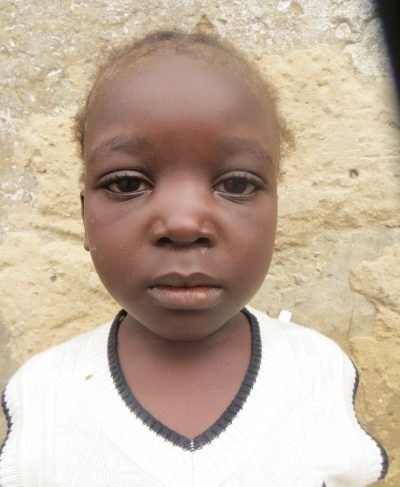Click Rebecca's picture to sponsor her - She is 5 years old, loves to play, and wants to study and graduate.