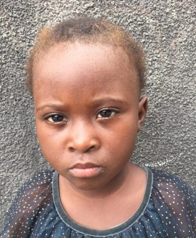 Click Esperance's picture to sponsor her - She is 5 years old, loves to play, and wants to be a teacher.