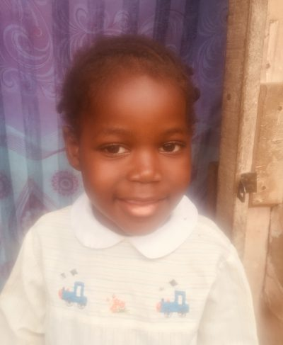 Click Sagesse's picture to sponsor her - She is 5 years old, loves to play, and wants to study and graduate.
